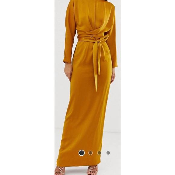 ASOS maxi dress - Mustard